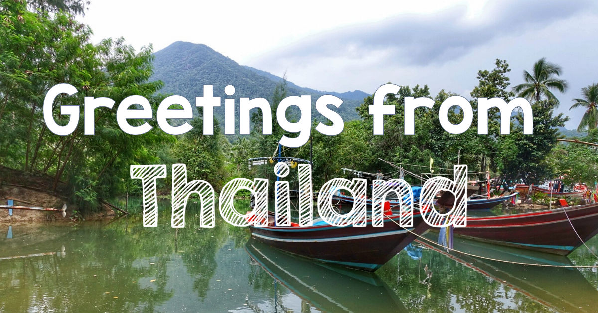 Greetings From Thailand Digital Postcard Delivery How